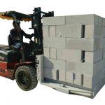Hidrauliskā iekrāvēja betona ķieģeļi / bloku pacelšanas skava